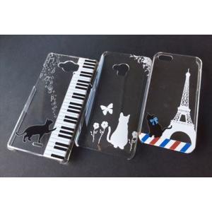 全機種対応 スマホ ケース クリア ねこ 猫 ネコ ピアノ 月 星 肉球 エッフェル 黒猫 白猫 iPhone11 Pro Max iPhone XR AQUOS R3 sense2 Xperia 1 Android One S5|ss-link|05