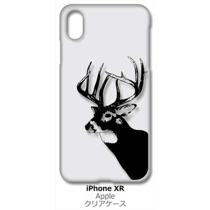 iPhone XR Apple アイフォン iPhoneXR クリア ハードケース 鹿 シカ アニマル スマホ ケース スマートフォン カバー カスタム ジャケッ|ss-link