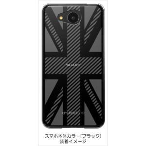507SH/605SH Android One/AQUOS ea ケース クリア 透かし加工 ユニオンジャック イギリス 国旗 ハードケース カバー ジャケット ス ss-link