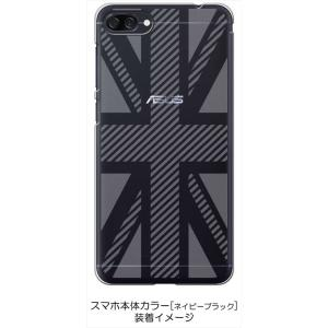 ZenFone4Max ZC520KL ゼンフォン4 ケース クリア 透かし加工 ユニオンジャック イギリス 国旗 ハードケース カバー ジャケット ス|ss-link