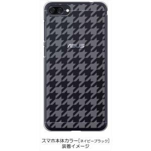 ZenFone4Max ZC520KL ゼンフォン4 ケース クリア 透かし加工 千鳥柄 チェック 格子 ハードケース カバー ジャケット スマートフォ|ss-link