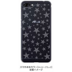ZenFone4Max ZC520KL ゼンフォン4 ケース クリア 透かし加工 星 スター ハードケース カバー ジャケット スマートフォン スマホケ|ss-link