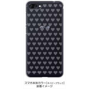 ZenFone4Max ZC520KL ゼンフォン4 ケース クリア 透かし加工 プチハート ハードケース カバー ジャケット スマートフォン スマホケ|ss-link