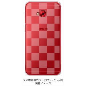 ZenFone4 Selfie Pro ZD552KL ASUS ケース クリア 透かし加工 ブロックチェック 市松 ハードケース カバー ジャケット スマートフォ|ss-link