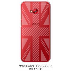ZenFone4 Selfie Pro ZD552KL ASUS ケース クリア 透かし加工 ユニオンジャック イギリス 国旗 ハードケース カバー ジャケット ス|ss-link