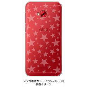 ZenFone4 Selfie Pro ZD552KL ASUS ケース クリア 透かし加工 星 スター ハードケース カバー ジャケット スマートフォン スマホケ|ss-link