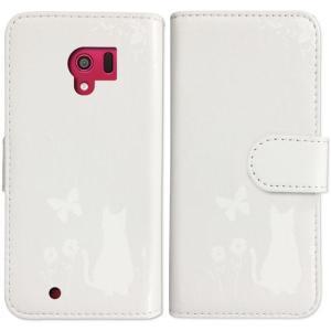 F-06F らくらくスマートフォン3 手帳型 ケース 猫 ネコ 花柄 a026 ホワイト ダイアリータイプ 横開き カード収納 フリップ カバー|ss-link|04