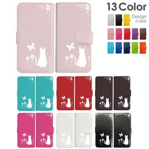 iPhone4/4s 手帳型 ケース 猫 ネコ 花柄 a026 ホワイト ダイアリータイプ 横開き カード収納 フリップ カバー|ss-link