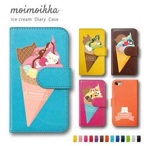 Honor 8 Huawei 猫 柴犬 アイス 柄 ペンギン パンダ 動物 ケース 手帳型ケース moimoikka (もいもいっか)|ss-link