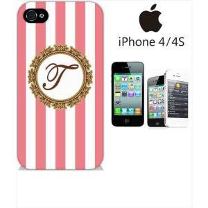 iphone4s iPhone4s iPhone 4s ケース ハードケース ジャケット ボーダーA-イニシャルT ボーダー イニシャル ロゴ エンブレム
