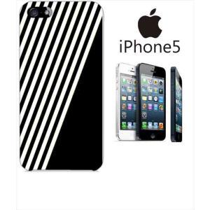 iphone5/5s iPhone 5s アイフォン スマホ ハードケース カバー ジャケット ストライプ a002黒-sslink ss-link