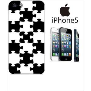 iphone5/5s iPhone 5s アイフォン スマホ ハードケース カバー ジャケット パズル チェック a007-sslink ss-link