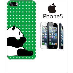 iphone5/5s iPhone 5s アイフォン スマホ ハードケース カバー ジャケット ca724-4 ドット パンダ 水玉 ss-link