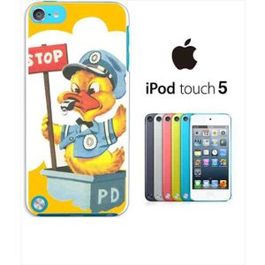 ipod touch 5 iPodTouch5 アイポッドタッチ5 ケース ハードケース カバー ジャケット ca784-6 ダック アヒル 警官 STOP|ss-link
