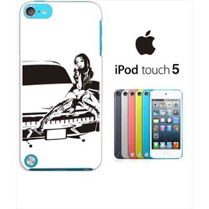 ipod touch 5 iPodTouch5 アイポッドタッチ5 ケース ハードケース カバー ジャケット シルエット 人物 車と女性 セクシー y133-sslink|ss-link