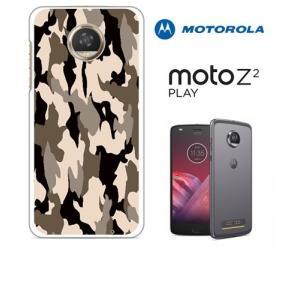 Moto Z2 Play モトローラ ホワイトハードケース ジャケット カモフラ-カーキ カモフラ柄 迷彩|ss-link
