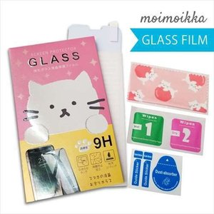 ZenFone 2(ZE551ML) ゼンフォン ガラスフィルム 保護フィルム 液晶保護 強化ガラス シート ねこ ガラス moimoikka (もいもいっか) ss-link