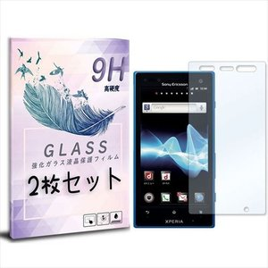 SO-03D/IS12S Xperia acro HD 2枚セット ガラスフィルム 保護フィルム 液晶保護 強化ガラス シート ガラス|ss-link