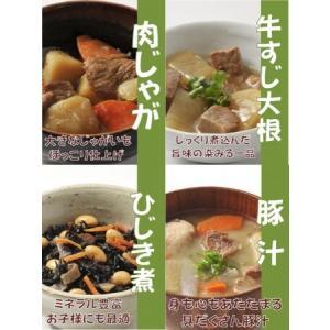 (株)ジェイコム 普段のおかずが非常食 レトルトおかず4種セット 肉じゃが、牛筋大根、豚汁、ひじき煮|ss-miyabi-store
