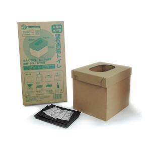 防災アプリQRコード付き 段ボールトイレ(簡易トイレ、トイレ急便5回用付き)|ss-miyabi-store