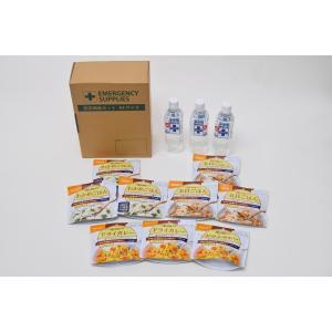 災害備蓄用 A4箱入り 1名様3日分9食セット 尾西食品アルファ米9袋+保存水3本 防災アプリQRコード付き|ss-miyabi-store