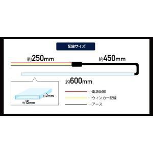 シーケンシャルLEDテープ[シリコンタイプ][シーケンシャルウインカー][60cm][2本1セット 流れるウィンカー シェアスタイル [J]|ss-style8|03