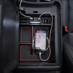 アルファード ヴェルファイア 30系 前期 後期 大型コンソール車 専用 LED 充電用USB付 コンソールトレイ トレー 収納 スマホ シェアスタイル [J]|ss-style8|07