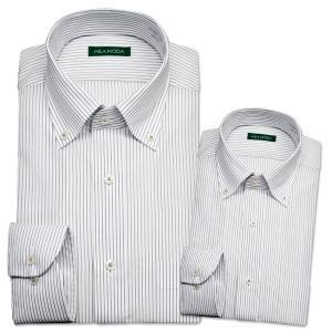 ワイシャツ メンズ 長袖 ボタンダウン スリム 形態安定 S...