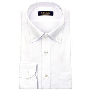 ワイシャツ メンズ 長袖 形態安定 ボタンダウン 白 ドビー ドレスシャツ Yシャツ カッターシャツ ビジネスシャツ ランキング 送料無料|シャツステーション
