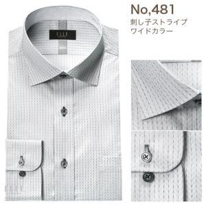 ワイシャツ メンズ 形態安定 長袖 レギュラーカラー ワイドカラー ボタンダウン モノトーン ビジネスシャツ ELLE costumes|ss1946|07