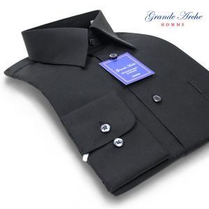 GRANDE ARCHE | ワイシャツ・形態安定・レギュラーカラー・ブラックシャツ(長袖ドレスシャツ/制服シャツ)|ss1946