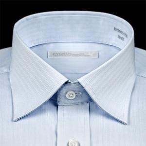ワイシャツ メンズ 長袖 超形態安定 セミワイドカラー ブルードビー 抗菌防臭 S M L LL 3L ドレスシャツ CYGNUS 1107|ss1946|02