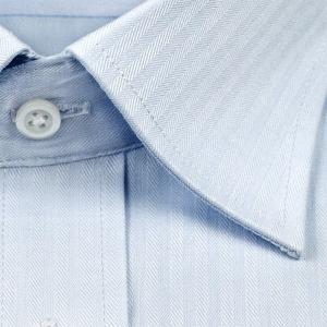 ワイシャツ メンズ 長袖 超形態安定 セミワイドカラー ブルードビー 抗菌防臭 S M L LL 3L ドレスシャツ CYGNUS 1107|ss1946|03