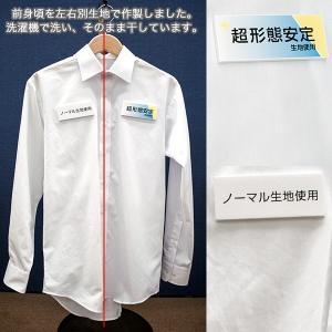ワイシャツ メンズ 長袖 超形態安定 セミワイドカラー ブルードビー 抗菌防臭 S M L LL 3L ドレスシャツ CYGNUS 1107|ss1946|04