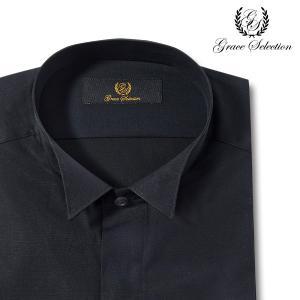 grace selection | メンズワイシャツ・長袖・綿100・ウイングカラー・比翼前立て・ドレスシャツ・|ss1946