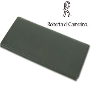 ロベルタディカメリーノ Roberta di Camerino 牛革 長財布 メンズ カーキ|ssc