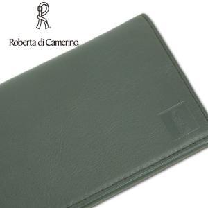 ロベルタディカメリーノ Roberta di Camerino 牛革 長財布 メンズ カーキ|ssc|04