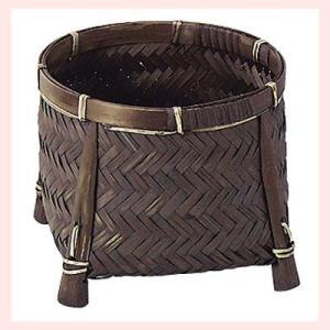 『竹』丸タイプ足付き小物入れ「12×10cm」3Pセット|sshana