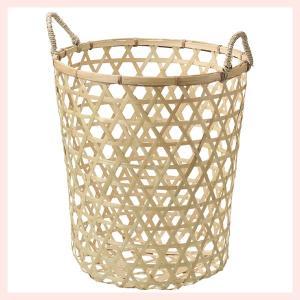 『竹』丸タイプバスケット(両手持ち)「40×45cm」|sshana