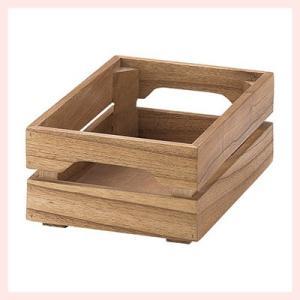 『チェリーウッド』四角タイプスタッキングボックス「18×26×10cm」|sshana