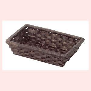 『竹』四角タイプトレー「16×10.5×3.5cm」10Pセット/ダークブラウン|sshana