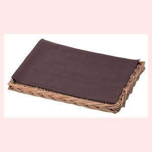 『煮柳』四角タイプ平面トレー「40×30×3cm」(綿麻ナプキン付き/茶)|sshana