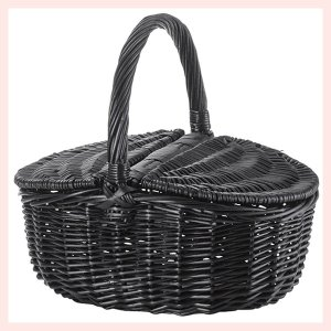 『黒柳』ピクニックバスケット「35×24×14cm」/ブラック sshana