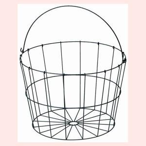 『ワイヤー』丸タイプバスケット「36×26.5cm」(片手持ち)|sshana