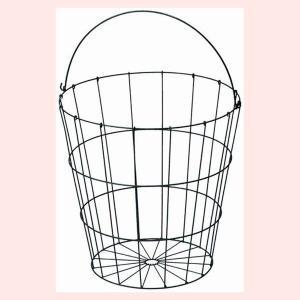 『ワイヤー』丸タイプバスケット「40×40cm」(片手持ち)|sshana