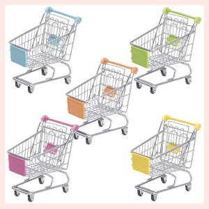 『ワイヤー』ショッピングカート型小物入れ/5種類|sshana