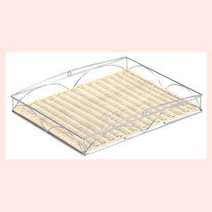 『ラタン』スノコ取り外し可能なワイヤーフレーム四角タイプトレー「50×40×6cm」|sshana