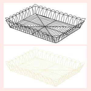 『ワイヤー』四角タイプトレー「40×30×6cm」/2種類|sshana