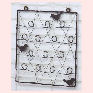 スチールレターホルダー(壁掛け)/ブラウン|sshana
