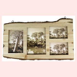 天然木の壁掛けフォトフレーム(4窓)|sshana